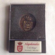 Reproducciones billetes y monedas: MEDALLA BICENTENARIO ALGODONALES 2 DE MAYO 1810-2010. Lote 169189716