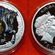 Reproductions billets et monnaies: MEDALLA PLATA 1 OZ - KIRIBATI 2016 - COINS FROM THE CRIPT R.I.P. - JINETE SIN CABEZA - CAPSULA . Lote 170065700