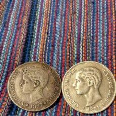 Reproducciones billetes y monedas: BOL- DOS DUROS 1897 CON BAÑO DE PLATA Y 1881 ALPACA PLATEADA. EL DE 1897 FALSO DE ÉPOCA. Lote 171674313