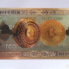 Reproductions billets et monnaies: BIT COIN 99.9% ORO PURO 24 KLTS. Lote 171962840