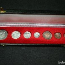 Reproducciones billetes y monedas: PRECIOSAS!!! 7 MONEDAS - COPIAS FIDEDIGNAS - CRISTÓBAL COLON - REYES CATÓLICOS - CON ESTUCHE!!. Lote 172784627