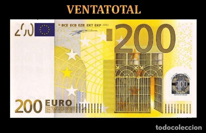BILLETE TRAINER DE 200 EUROS BILLETE PARA COLECCIONARLO JUGAR O ENSEÑANZA USADO EN PELICULAS - Nº1 (Numismática - Reproducciones)