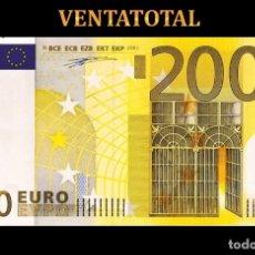 Reproducciones billetes y monedas: BILLETE TRAINER DE 200 EUROS BILLETE PARA COLECCIONARLO JUGAR O ENSEÑANZA USADO EN PELICULAS - Nº1. Lote 210528902