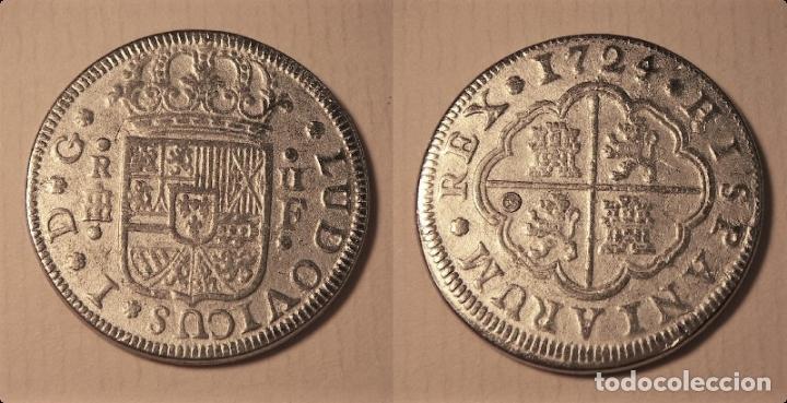 REPRODUCCION DE UNA MONEDA DE LUIS I 2 REALES 1724 SEGOVIA (Numismática - Reproducciones)