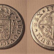 Reproduções notas e moedas: REPRODUCCION DE UNA MONEDA DE LUIS I 2 REALES 1724 SEGOVIA. Lote 231570235