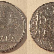 Reproducciones billetes y monedas: REPRODUCCIÓN DE UNA MONEDA DE ESTADO ESPAÑOL 10 CENTIMOS 1953. Lote 173059022