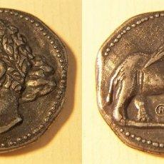 Reproductions billets et monnaies: REPRODUCCIÓN DE UNA MONEDA DE CARTHAGO NOVA DISHEKEL 2 SICLOS 237-227 AJC. Lote 194172472