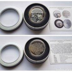 Reproducciones billetes y monedas: MAHATMA GANDHI MEDALLA 1921-2015. Lote 173070383