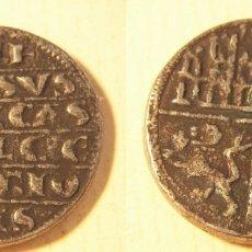 Reproducciones billetes y monedas: REPRODUCCIÓN DE UNA MONEDA DE ALFONSO X 1/4 DE MARAVEDI CECA MURCIA. Lote 194173013