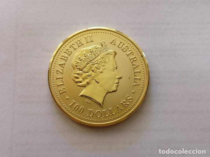 MONEDA DE ORO 50 DOLARES 2000 SERPIENTE (Numismática - Reproducciones)