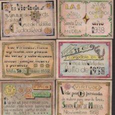 Reproducciones billetes y monedas: C.REAL,STA. CRUZ D MUDELA. 8 VALES--SERIE COMPLETA- LAS VIRTUDES,-PRIVADO- VER FOTOS. Lote 174013104