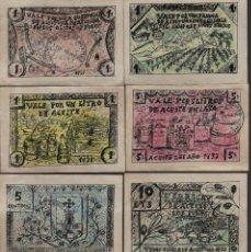 Reproducciones billetes y monedas: JAEN. 8 VALES--SERIE COMPLETA- FABRICA D ACEITE -LOS FUNES-,-PRIVADO- VER FOTOS. Lote 174013393
