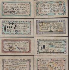 Reproducciones billetes y monedas: MADRID,. 10 VALES--SERIE COMPLETA- TALLER DE FORJA,D. MANUEL PACHECO-PRIVADO- VER FOTOS. Lote 174013483
