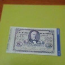 Reproducciones billetes y monedas: HISTORIA DE LA PESETA FACSIMIL. 100 PESETAS. Nº 15. C8CR. Lote 174068053