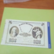 Reproducciones billetes y monedas: HISTORIA DE LA PESETA FACSIMIL. 1000 PESETAS. Nº 16. C8CR. Lote 174068149