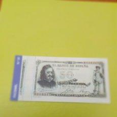 Reproducciones billetes y monedas: HISTORIA DE LA PESETA FACSIMI 50 PESETAS. Nº 30. C8CR. Lote 174069313