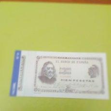 Reproducciones billetes y monedas: HISTORIA DE LA PESETA FACSIMIL. 100 PESETAS. Nº 31. C8CR. Lote 174069394