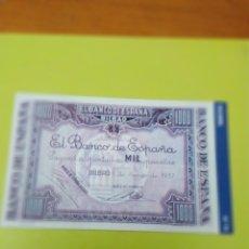 Reproducciones billetes y monedas: HISTORIA DE LA PESETA FACSIMIL. MIL 1000 PESETAS. Nº 74. C8CR. Lote 174091163