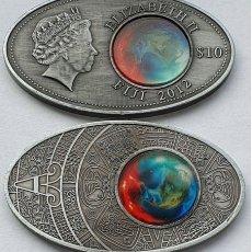 Reproducciones billetes y monedas: RARA MONEDA 10 DOLARES ISLAS FIJI 2012 ELIZABETH II. Lote 174489177