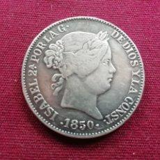 Reproducciones billetes y monedas: 20 REALES DE 1850. REPRODUCCIÓN. Lote 174677610