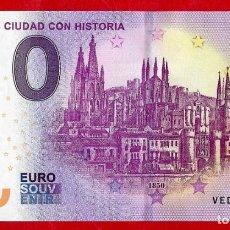 Reproducciones billetes y monedas: ESPAÑA - BILLETE 0 EURO 2019 - EUROSOUVENIR - BURGOS CIUDAD CON HISTORIA. Lote 187386310