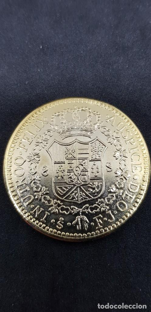 Reproducciones billetes y monedas: 8 ESCUDOS 1811 FERNANDO VII SANTIAGO FJ - Foto 2 - 175223580