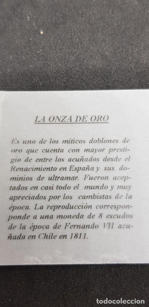 Reproducciones billetes y monedas: 8 ESCUDOS 1811 FERNANDO VII SANTIAGO FJ - Foto 3 - 175223580
