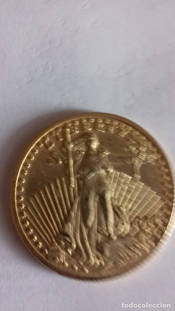 Reproducciones billetes y monedas: Reproduccion exacta de una onza liberty - Foto 5 - 175850903