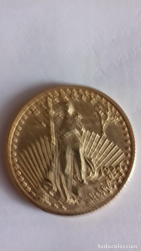 Reproducciones billetes y monedas: Reproduccion exacta de una onza liberty - Foto 7 - 175850903