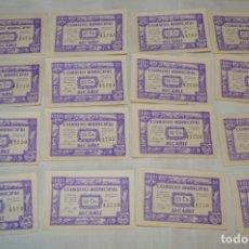 Reproducciones billetes y monedas: 16 BILLETES GUERRA CIVIL DE 25 CTS - JUNIO 1937 - ALCAÑÍZ - ALGUNOS CONSECUTIVOS - CONSEJO MUNICIPAL. Lote 176277053