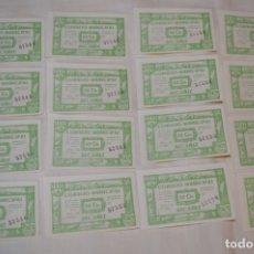 Reproducciones billetes y monedas: 16 BILLETES GUERRA CIVIL DE 50 CTS - JUNIO 1937 - ALCAÑÍZ - ALGUNOS CONSECUTIVOS - CONSEJO MUNICIPAL. Lote 176279462