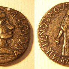 Reproductions billets et monnaies: REPRODUCCIÓN DE UNA MONEDA DE CARTHAGO NOVA AS DE AUGUSTO 7-8 DC. Lote 194172013