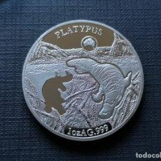 Reproducciones billetes y monedas: MONEDA DE ISLAS SALOMON 1 DOLAR 2019 PLATYPUS. Lote 176617953