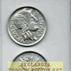 Reproducciones billetes y monedas: L22 MONEDA, MEDALLA, REPRODUCCIÓN, REPLICA 1.2 EKL LP ROMANA ~AS DE VALENCIA ~ DE PLATA 800. Lote 176983897