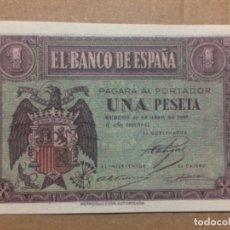 Reproducciones billetes y monedas: BILLETE UNA PESETA FRANQUISMO 1938. Lote 177007869