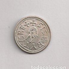 Reproducciones billetes y monedas: REPLICA MONEDA VISIGODA EN PLATA. Lote 177078757