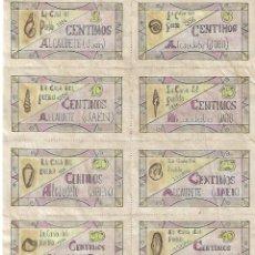 Reproducciones billetes y monedas: LA CASA DEL PUEBLO CENTIMOS 10 VALES. Lote 177327740