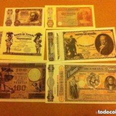 Reproducciones billetes y monedas: ESPAÑA - BILLETES FACSÍMIL - LOTE DE 11 - (REAL CASA DE LA MONEDA- M). Lote 177502658