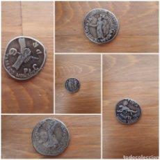 Reproducciones billetes y monedas: LOTE 5 ANTIGUAS MONEDAS REPRODUCCIÓN TARRACO 1995. Lote 177681665