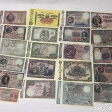 Reproducciones billetes y monedas: LOTE 21 BILLETES ESPAÑA - DESDE 1895 A 1976 - PESETAS - REPRODUCCIONES / N-9226. Lote 177844615