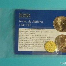 Reproducciones billetes y monedas: REPRODUCCIÓN AUREO DE ADRIANO, 134 - 138. Lote 178156977