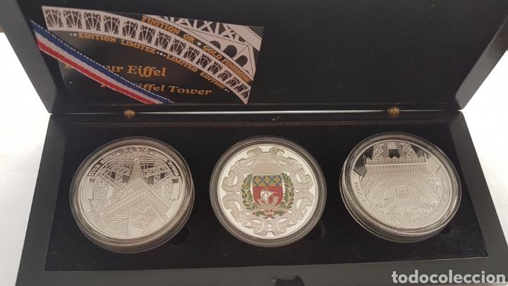 Reproducciones billetes y monedas: Colección monedas conmemoración Torre Eiffel - Foto 2 - 178329250