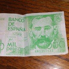 Reproducciones billetes y monedas: ANTIGUO BILLETE DE MIL PESETAS AGFA // REPRODUCCIÓN PUBLICITARIA. Lote 178349995
