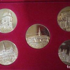 Reproducciones billetes y monedas: COLECCIÓN DE 5 MEDALLAS MIEMBROS CEE. LOTE 1. Lote 178356560