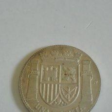 Reproducciones billetes y monedas: UNA PESETA DE PLATA LA REPÚBLICA ESPAÑOLA 1933 REPRODUCCIÓN. Lote 178371288