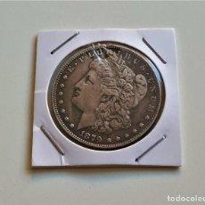 Reproducciones billetes y monedas: USA ONE DOLLAR 1879 - 38.MM DIAMETRO. Lote 178613205