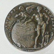 Reproducciones billetes y monedas: REPRODUCCIÓN MEDALLA DE KARL GOETZ PRIMER VUELO EN 1924 DEL DIRIGIBLE ZEPPELIN ZRIII . Lote 178621606