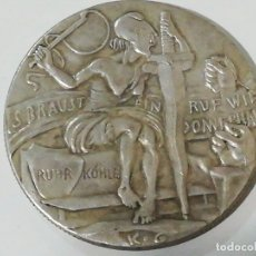 Reproducciones billetes y monedas: REPRODUCCIÓN MEDALLA SATÍRICA DE KARL GOETZ DE 1923 EL JUICIO DE LOS LADRONES. Lote 178622096
