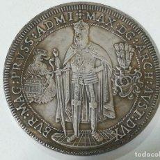 Reproducciones billetes y monedas: REPRODUCCIÓN MONEDA 1 THALER MAXIMILIAN I ORDEN TEUTONICA ESTADOS ALEMANES 1603. Lote 178661186