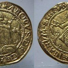 Riproduzioni banconote e monete: REPRODUCCION DE UN DOBLE DUCADO DE CARLOS I CECA VALENCIA. Lote 207453080